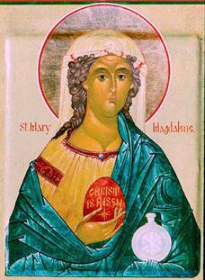 붉은 계란을 들고 있는 막달라 마리아의 초상화 . A web-only photo  courtesy of creative commons.