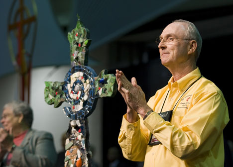 Bishop William Hutchinson of Louisiana thanks United Methodists for their response following Hurricane Katrina.