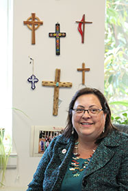 The Rev. Cynthia Abrams says the best thing United Methodists and others can do to support the Church Health Plan Act is call their Congressional representatives. A UMNS photo by Kathleen Barry.