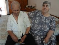 Sargis Hejejyan (left) and Sveta Yegiazaryan enjoy their elder years together at an UMCOR-supported home for the aged near the Armenian capital. Photo by Anahit Gasparyan, UMCOR.