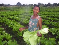 """Today, with my production, I am a happy woman,"" says Beatrice Monga. Photo courtesy of Foods Resource Bank."