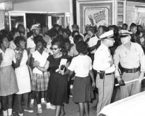 Civil rights demonstration in front of a segregated theater: Tallahassee, Florida