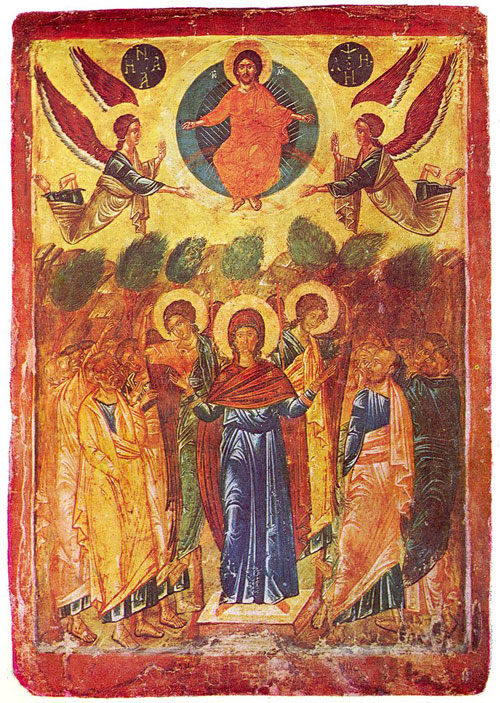 A 16th century icon of the Ascension from Bulgaria.