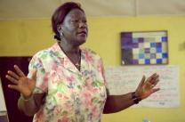(web only) The Rev. Yatta Young, a dean at United Methodist University, Monrovia, Liberia, says the Ebola crisis is causing Liberians great despair but she urges them to remember God is in the fight also.