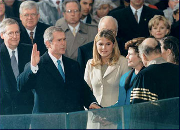 George W. Bush became the 43rd President of the United States in January 2001. A web-only photo courtesy of White House Photo.