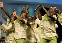The Hope for Africa Children's Choir sings during the 2008 United Methodist General Conference in Fort Worth, Texas. Many of its 23 members are orphans who have lost their families to civil war violence or AIDS.