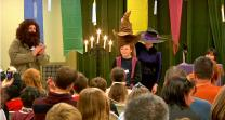 Harry Potter fans visit Quincy UMC for a Halloween treat.