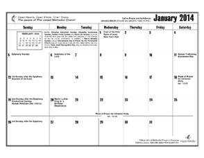 2014 Reproducible Calendar