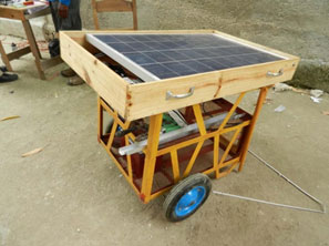 One of the solar-powered carts for Ecole de Lespoir (School of Hope).