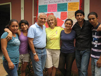 Nan McCurdy and husband Miguel Mairena (center) work as missionaries in Nicaragua with an ecumenical group called