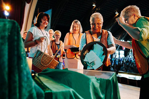 The Miracle Offering for the West Ohio Annual (regional) Conference was dedicated to adding the final dollars needed for the purchase of the Cessna Grand Caravan for Wings of the Morning, a multi-conference campaign for $1.6 million started a year ago.  Photo courtesy of West Ohio Annual Conference.