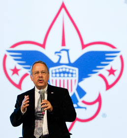Gil Hanke speaks about scouting ministries during the 2012 General Conference. Hanke, who chairs the General Secretaries Table, said he is excited about renewed cooperation among the denomination's top agency staff leaders. A UMNS file photo by Mike DuBose.