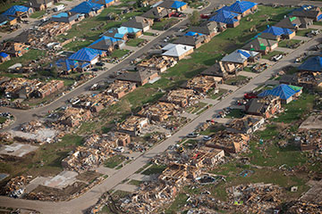 A May 20, 2013, tornado killed 24 people and damaged thousands of homes in Moore, Okla.