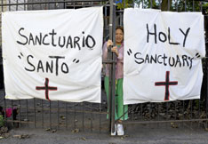 Elvira Arellano received sanctuary at thechurch for a year before being deported. A UMNS file photo by Paul Jeffrey.