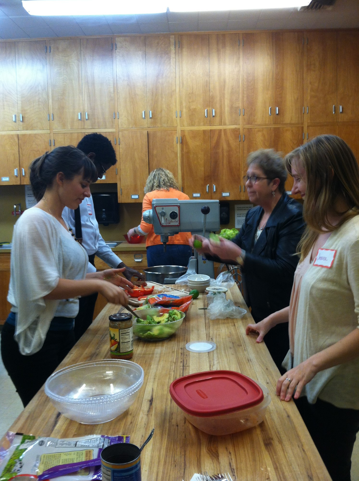 Members of First United Methodist Church in Portland, Ore., prepare a meal for short-term missioners in April 2014. Photo by the Rev. Jeremy Smith, courtesy of First United Methodist Church
