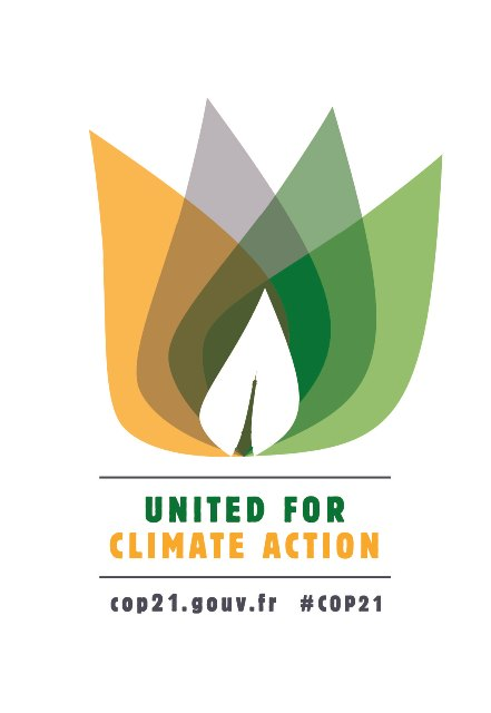 One of the logos for the 2015 United for Climate gathering in Paris.