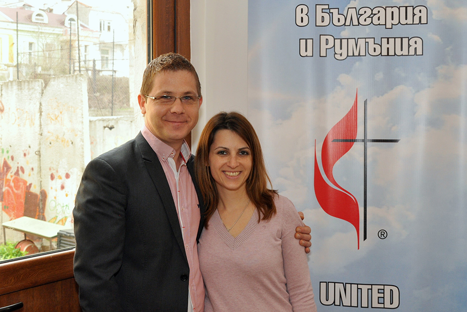 Pastor Mihail Stefanov, shown here with his wife, Mirela, is one of three current United Methodist pastors in Bulgaria who were educated outside the country. Under proposed changes to the Religious Denominations Act, only pastors who have been educated in Bulgarian theological institutions could serve. Photo courtesy of The United Methodist Church in Bulgaria.