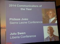 Phileas Jusu and Julu Swen were named 2014 United Methodist Communicators of the Year for their coverage of the deadliest Ebola outbreak in history. Photo by Art McClanahan