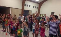 Children participate in a youth rally at Gurdon United Methodist Church.