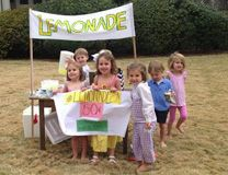 Children in the Montgomery-Prattville District held an impromptu lemonade stand, advertised by their mothers on Instagram, to raise money for Imagine No Malaria. Photo courtesy Alabama-West Florida Conference.