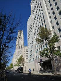 The Interchurch Center, just south of Riverside Church in New York, has been home to the United Methodist Board of Global Ministries for more than 50 years. In 2016, the mission agency will move its headquarters to Atlanta. Photo by Linda Bloom, UMNS.