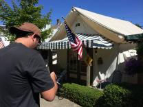 Videographer captures image of tent at Ocean Grove, NJ.