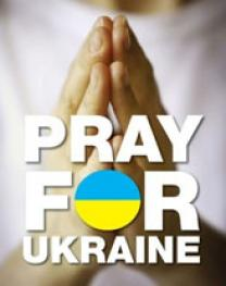 Prayers for Ukraine. Courtesy: Michael Airgood.