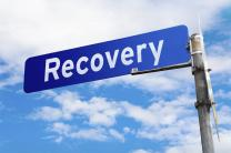 Image of recovery sign, courtesy of iStock.