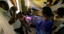 Sierra Leone's First Lady visits maternity ward at Kissy Hospital in Bo.  Video image by Carey Moots.