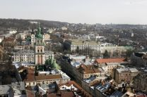 The skyline of L'viv, Ukraine. German United Methodists recently called upon their government to work for negotiations, rather than military action, in the conflict between Russia and Ukraine.