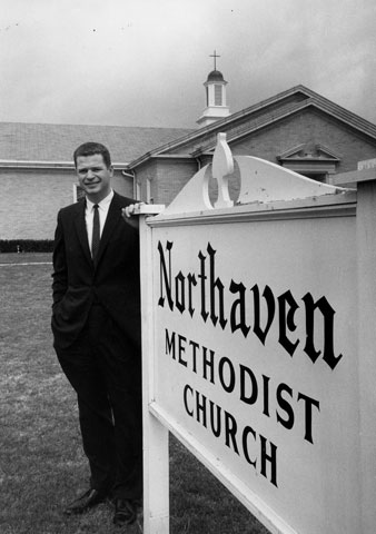 The Rev. William Holmes served as pastor of Dallas' Northaven Methodist from 1957 to 1965, and it was there he preached the sermon