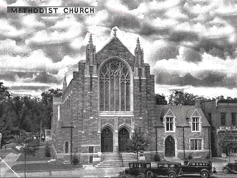 An early photo of Vineland Methodist Episcopal Church.