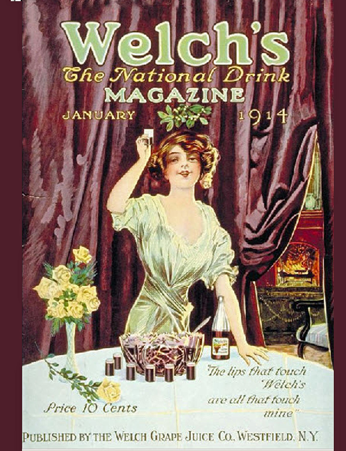 Welch's magazine cover from 1914.