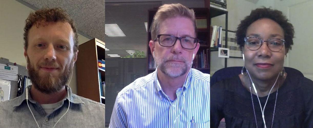 Screenshot of Chris Wilterdink, Steve Manskar, and Melanie Gordon.