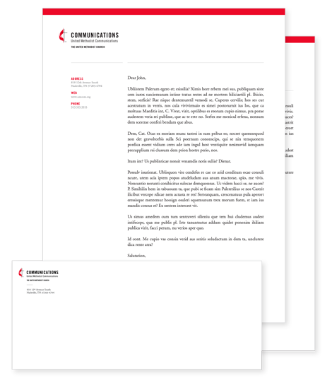 Stationery united methodist communications 10 envelope letterhead includes first and subsequent page template designs download accmission Choice Image