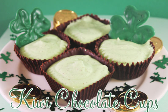 Kiwi Chocolate Cups
