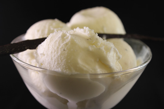 Vanilla Bean Ice Cream Close Up