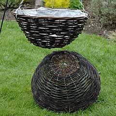 Set of 4 12' Rattan Hanging Baskets