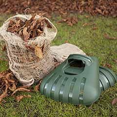 Pair of Hand Held Leaf Grabbers with 3 Compostable Leaf Sacks