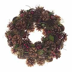Everlasting Real Pinecone Wreath
