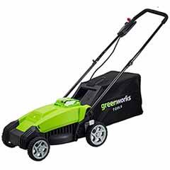 Greenworks 40v 35cm Cordless Lawn Mower with Battery and Charger