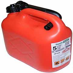 Plastic Petrol Can 5 Litre - Red