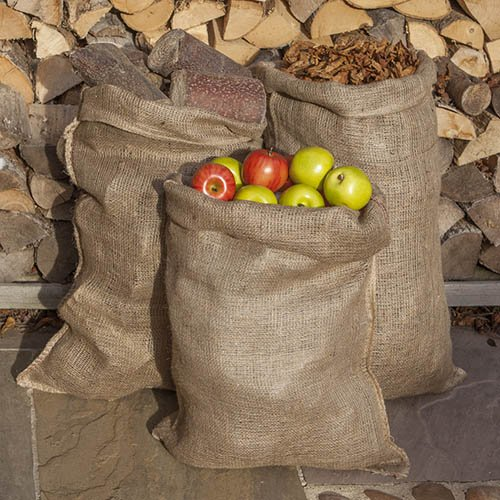 Pack of 10 Traditional Hessian Potato Sacks