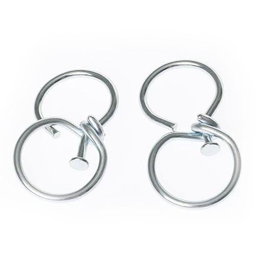 Pair of hanging basket swivel hooks