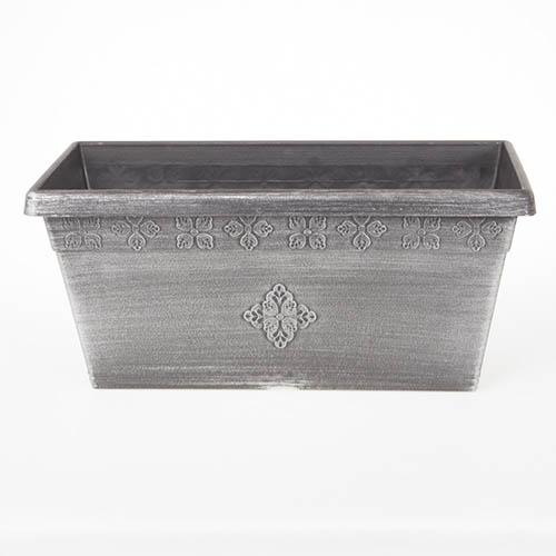 Plastic Windowbox Silver 50cm long