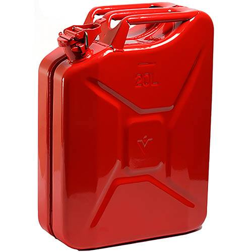 Image of 20 ltr Steel Jerry Can - Red