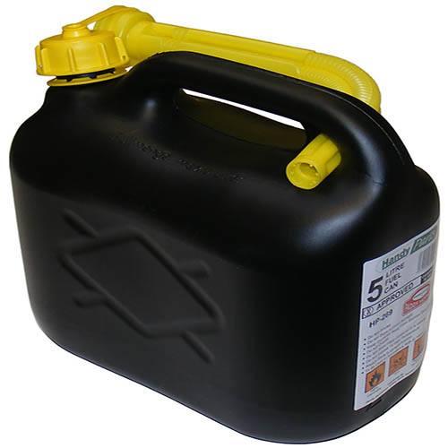 Plastic Petrol Can 5 Litre - Black
