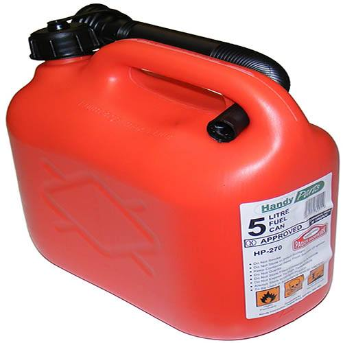 Image of 5 ltr Plastic Petrol Can - Red