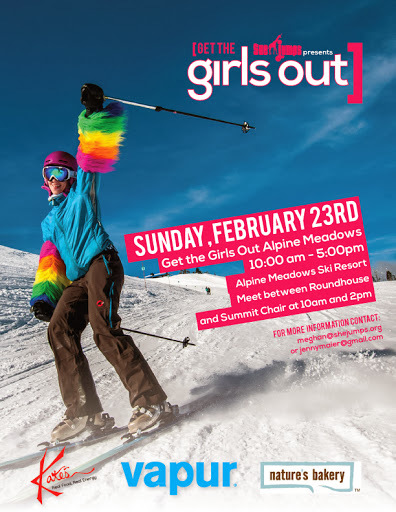 Ladies! If you are headed up to Tahoe this weekend @shejumps is bringing the lady shred community together at Alpine Meadows for their Get the Girls Out Day - if interested get more info here: http://www.shejumps.org/region/pacific-coast/