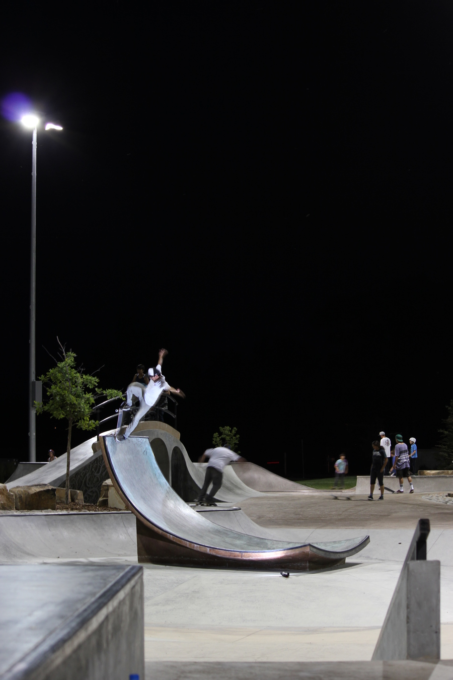 Colorado Skateboards team rider, Edward Sanchez. Blunt to fakie on the chip at Arvada skatepark